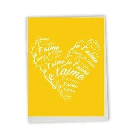 Lili Graffiti Je T'aime Heart Greeting Card