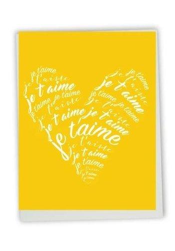 Carte de souhait - Je t'aime coeur