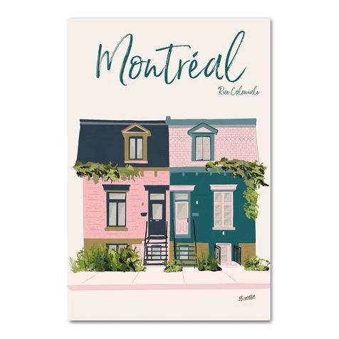 Lili Graffiti Postcard - Coloniale Street
