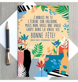 Merci Bonsoir par Marie-Claude Marquis Facebook Card