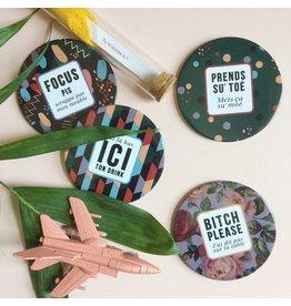 Merci Bonsoir par Marie-Claude Marquis Coasters - Pas sur la table