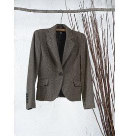 Short Brown Tweed Blazer
