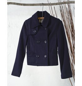 Manteau court laine marine