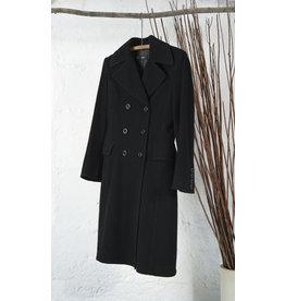 Long trench laine noir