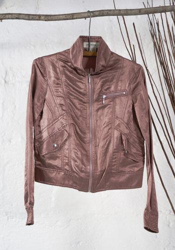 Sateen  Jacket Dusty Rose Zara Woman