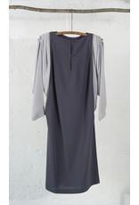 Two-Tone Grey Dress with Rhinestone Detail