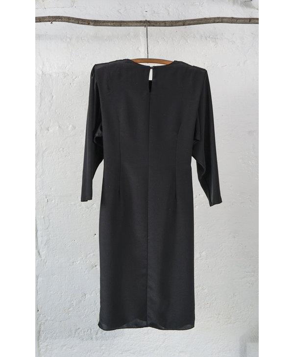 Draped Black Cite Chic Dress