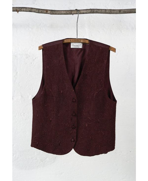 Bugundy Jacquard Vest