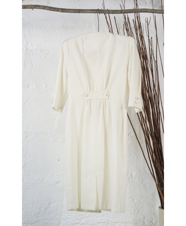 Ivory Dress with Sequin Brooch