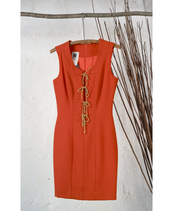 Orange Dress with Rope Closure