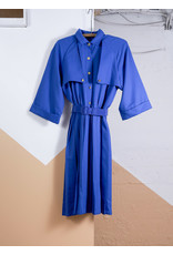 Royal Blue Trenchcoat Dress