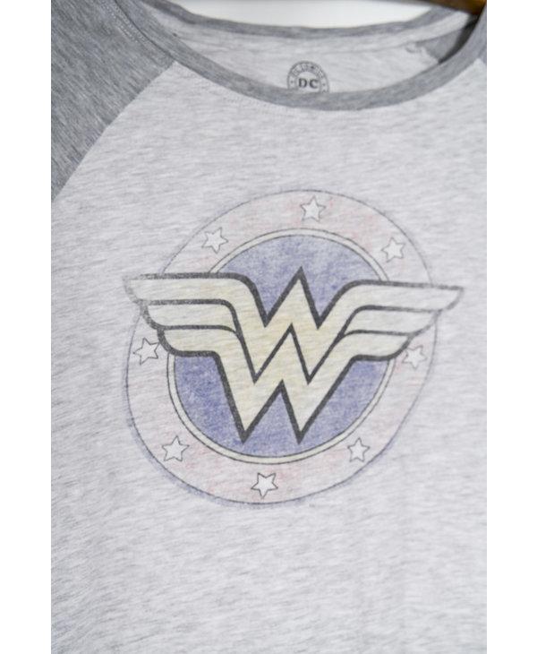 T-shirt Wonder Woman à manches 3/4