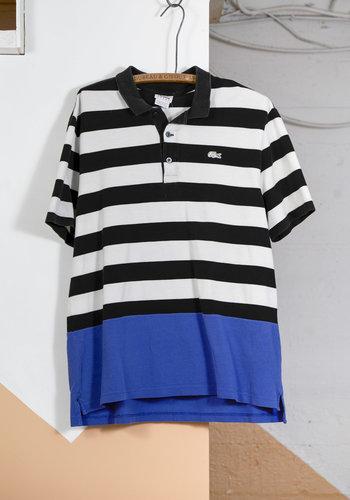Striped Lacoste Sport Polo Blue