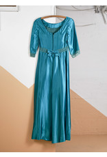 Robe longue émeraude taille empire