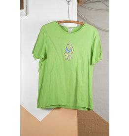 Martha Blackler T-Shirt papillon vert