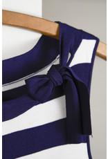 Martha Blackler JNY Navy White Stripe Top