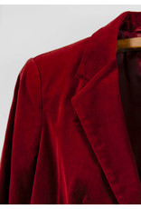 Red Wine Zara Velour Blazer