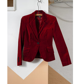 Blazer velour Zara rouge vin