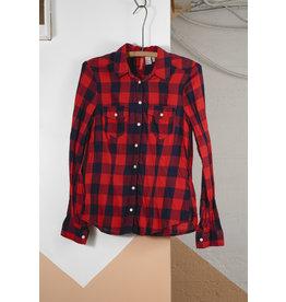 Chemise carreau rouge et noir