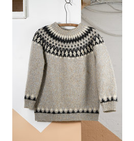Traditional Wood Sweater Blue, Creme and Charcoal