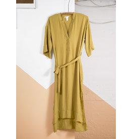 Citrine Belted Voile Dress
