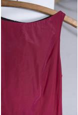 Robe sans manche ligne A rouge vin