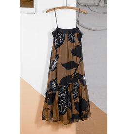 Spaghetti Strap Dress Black Brown