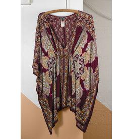 Loose Dress Purple Print