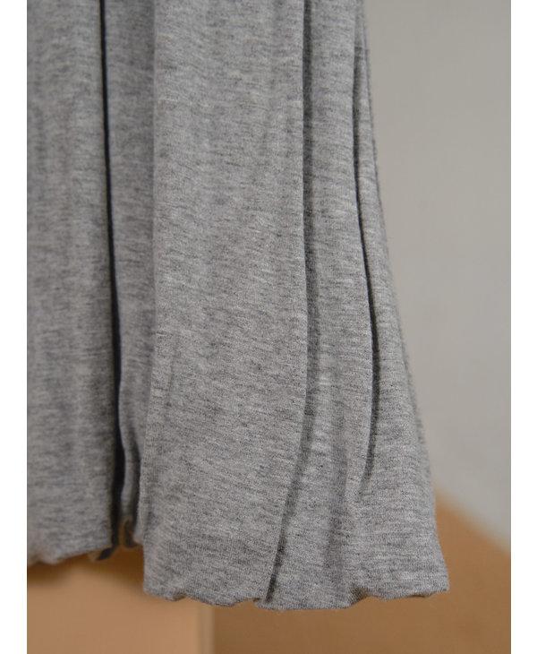 Robe ballon courte jersey gris