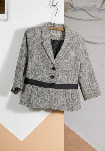 Blazer tweed NB bande noire