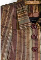 Cropped Copper Striped Blazer