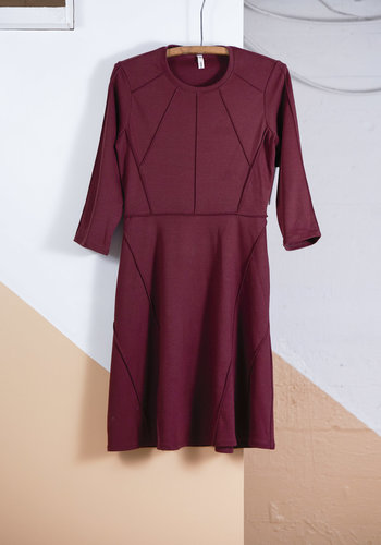 Robe marron couture inside out