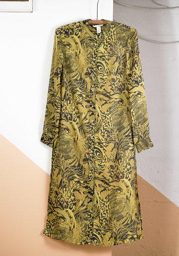 Tunique voile motif jaune