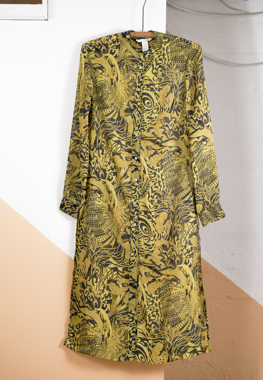 Tunic Dress with Yellow Print