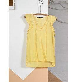 Top voile jaune