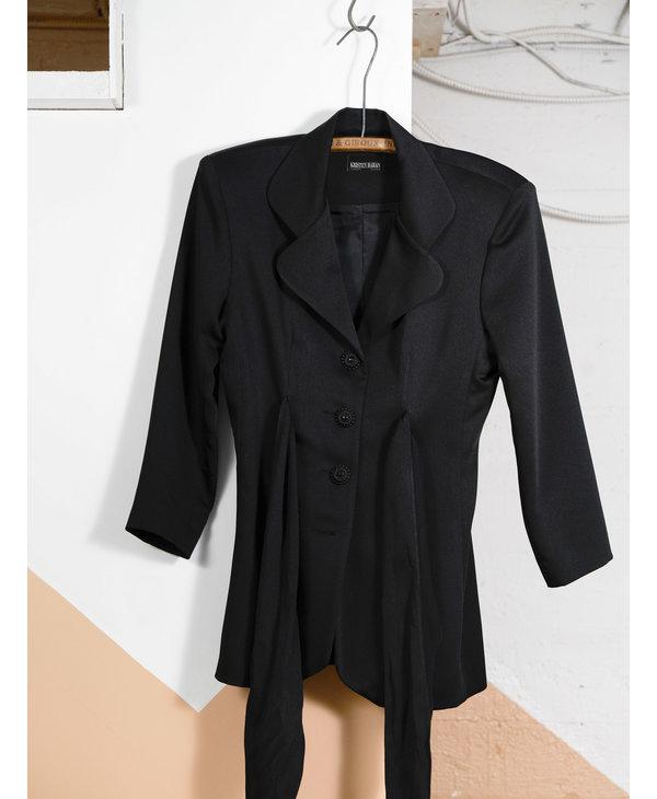 Belted Black Blazer