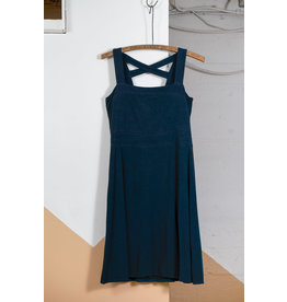 Teal Bamboo Jersey Dress with Crossed Back