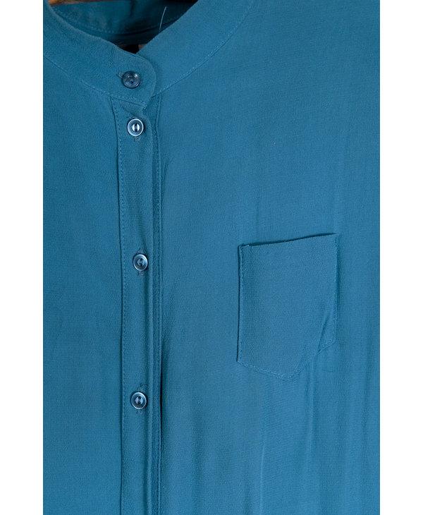 Robe chemise longue teal sans manche