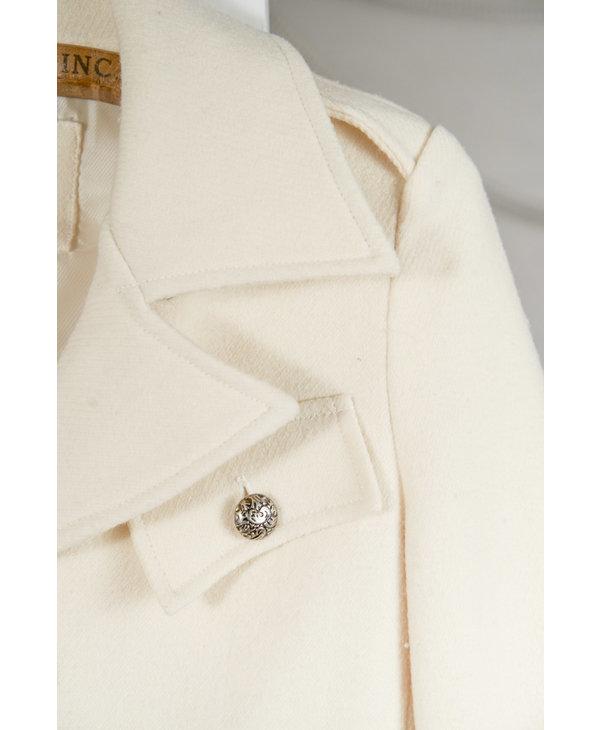 Creme Le Chateau Wool Coat