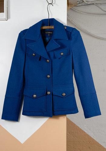 Short Teal Le Chateau Wool Coat