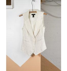 Cream Striped Vest