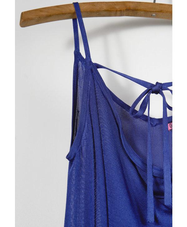 Cami mesh et ruban bleu