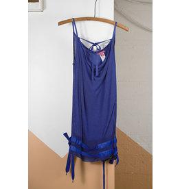 Blue Mesh Ribbon Cami