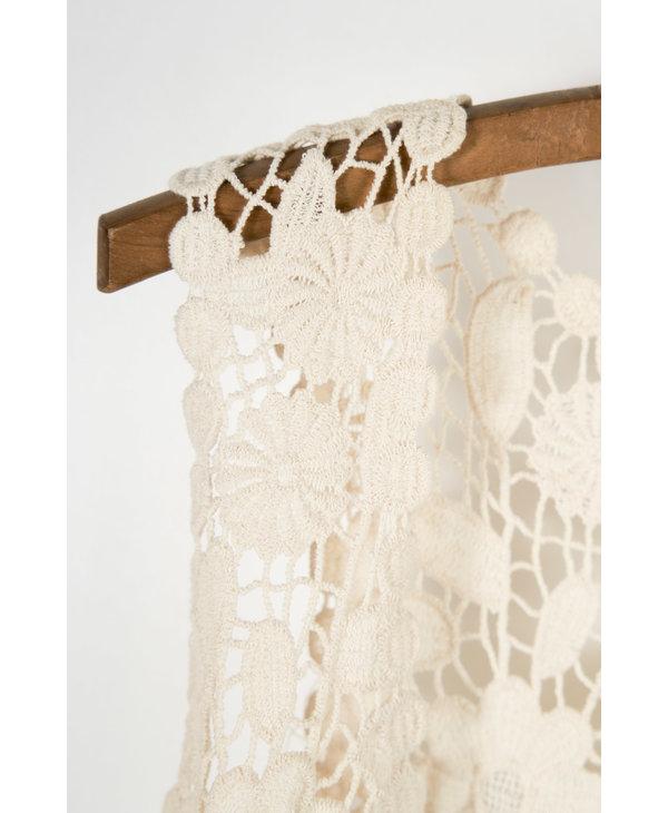 Ivory Crochet Vest