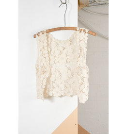Veste dentelle tricot ivoire