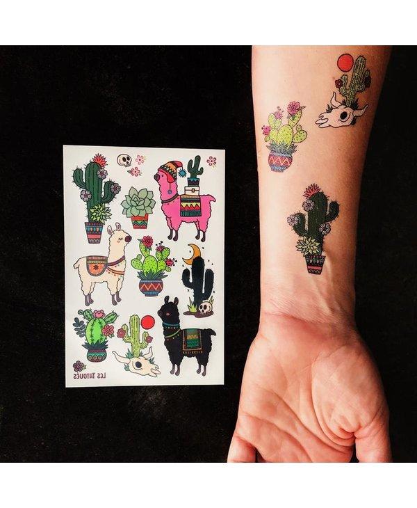Des alpagas et des cactus