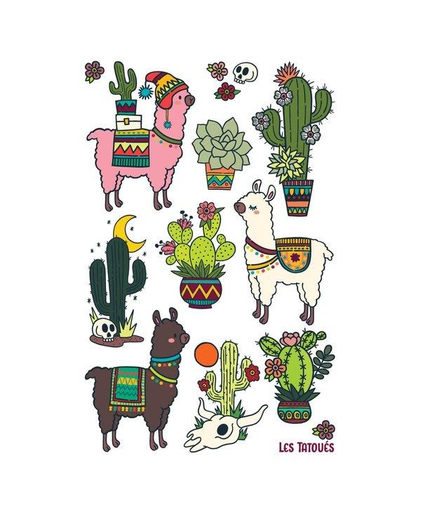 Alpaca and cactus