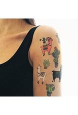 Les tatoués Alpaca and cactus