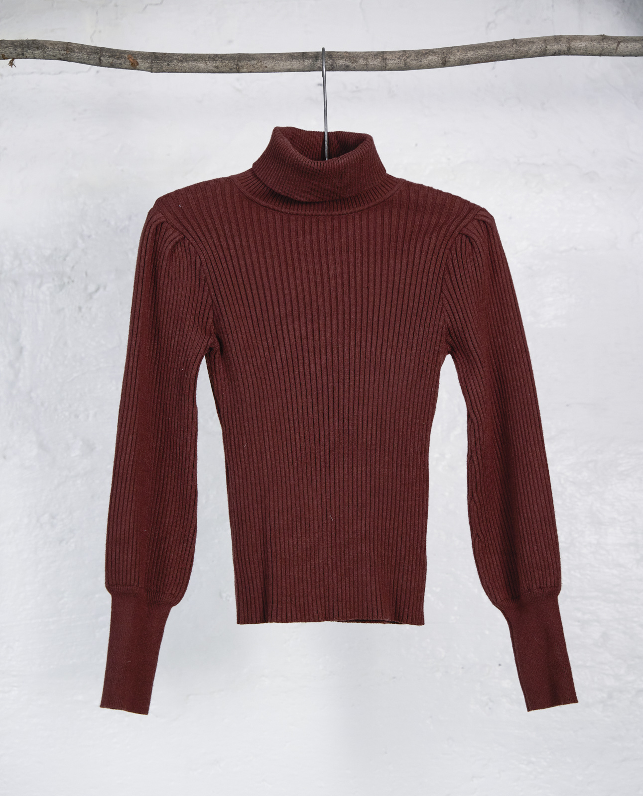 Tricot col roule bourgogne