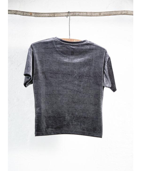 T-shirt velour acier twist